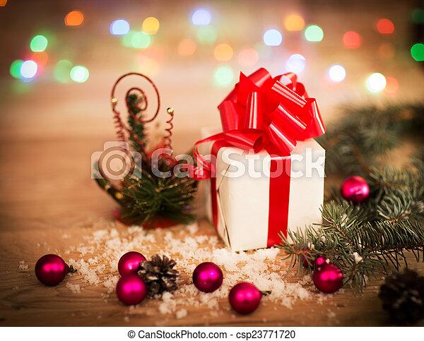 Christmas gift box - csp23771720