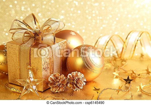 Christmas gift box - csp6145490