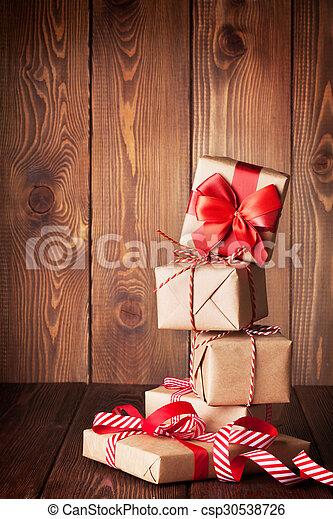 Christmas gift boxes - csp30538726