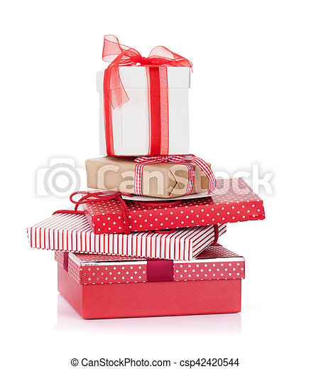 Christmas gift boxes - csp42420544