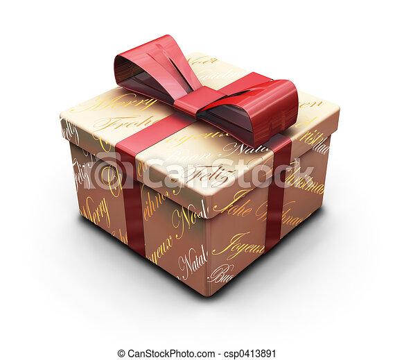 Christmas gift - csp0413891