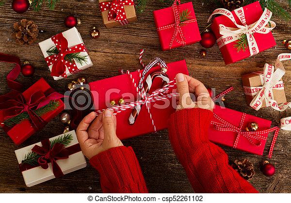Christmas Gift Giving.Christmas Gift Giving
