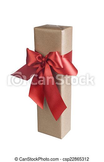 Christmas gift isolated - csp22865312