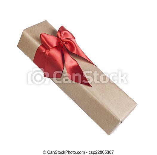 Christmas gift isolated - csp22865307