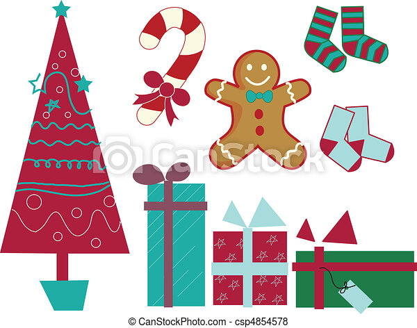 Christmas gift pack vector - csp4854578