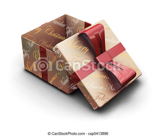 Christmas gift - csp0413896