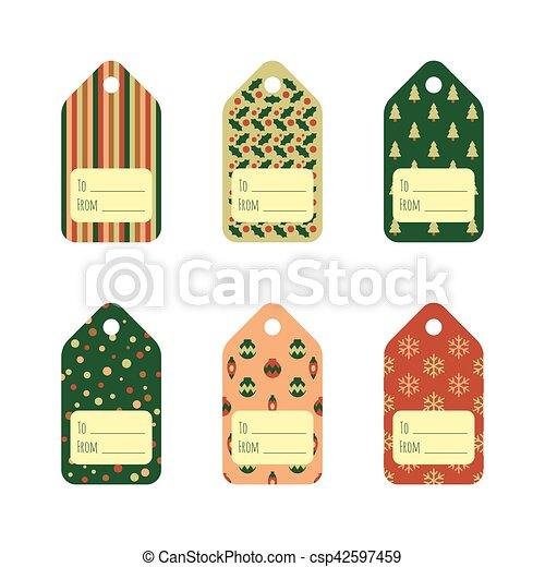Christmas Gift Tags Template.Christmas Gift Tags