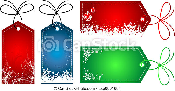 Christmas gift tags - csp0801684