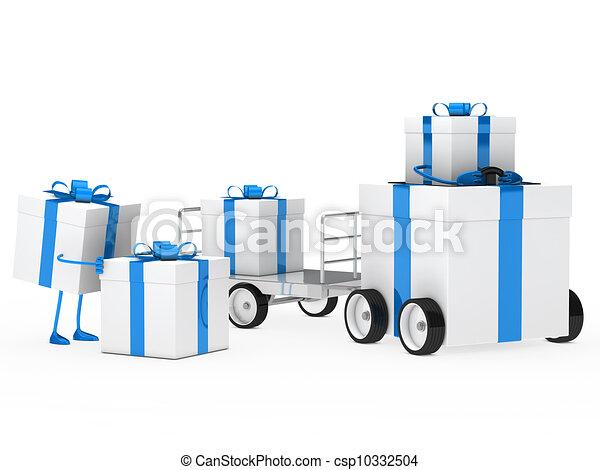 christmas gift vehicle - csp10332504