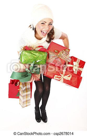Christmas Gifts Shopping Joy - csp2678014