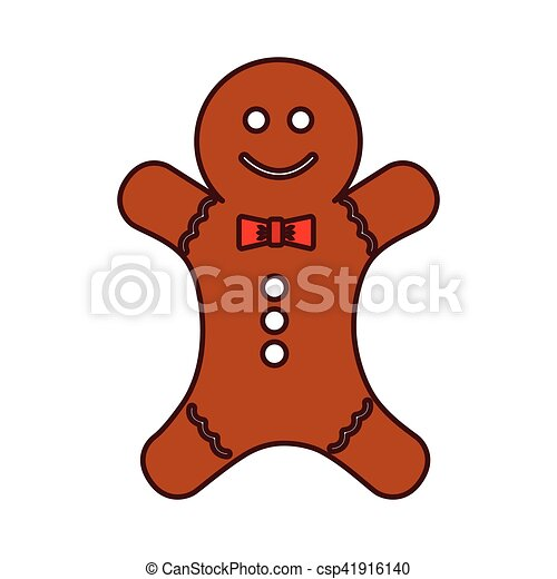 christmas ginger bread decorative icon - csp41916140