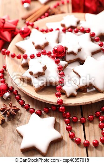 christmas ginger cookie - csp40857018