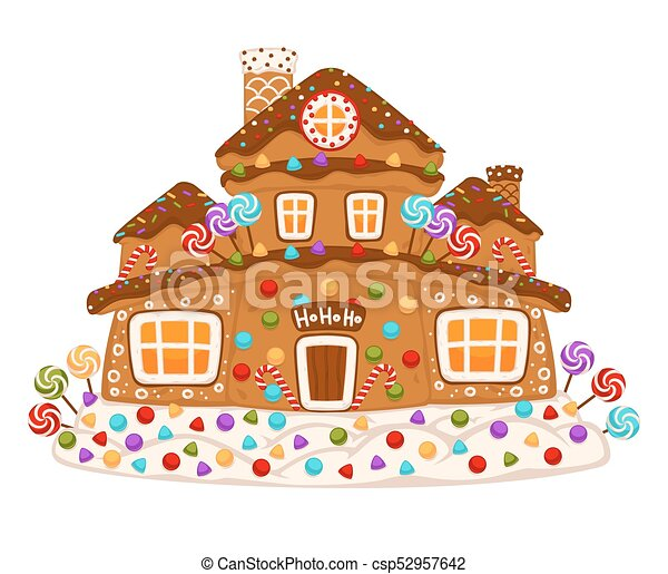 Christmas Gingerbread House Drawing.Christmas Gingerbread Cookie House Constructor Icons