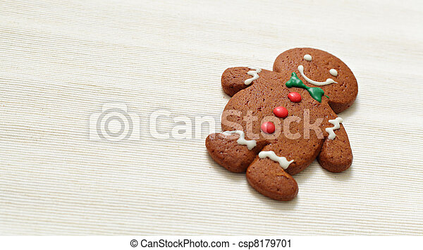 Christmas gingerbread cookie - csp8179701