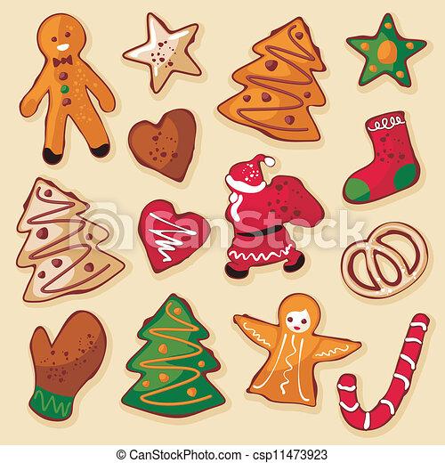 Christmas gingerbread cookies - csp11473923