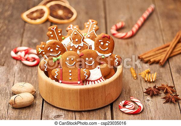 Christmas gingerbread cookies - csp23035016