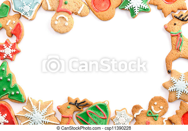 Christmas gingerbread cookies - csp11390228