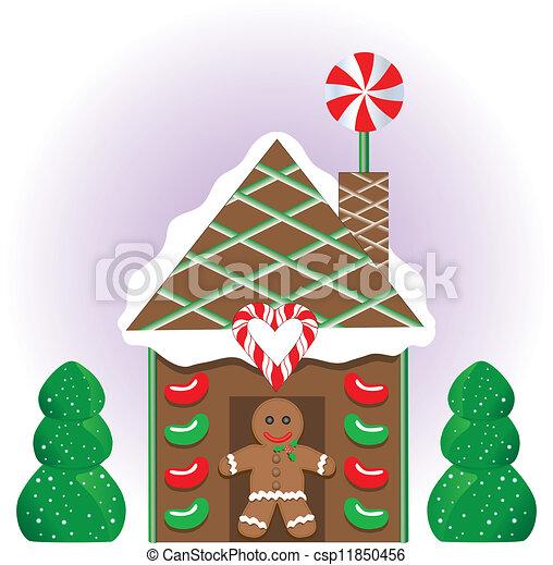 Christmas Gingerbread House Cartoon.Christmas Gingerbread House