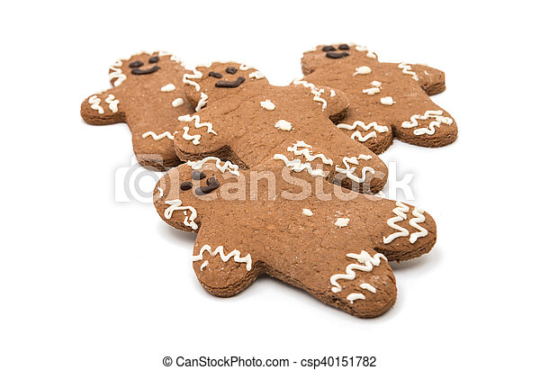 Christmas gingerbread man isolated - csp40151782