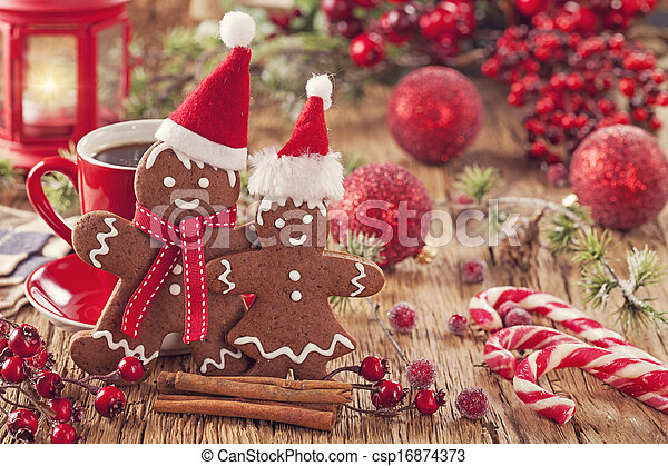 Christmas gingerbread man - csp16874373