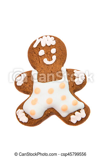 christmas gingerbread man - csp45799556