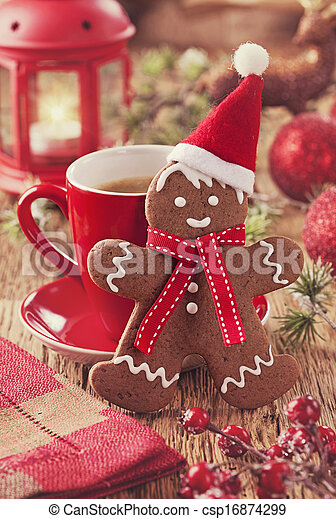 Christmas gingerbread man - csp16874299