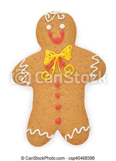 Christmas gingerbread man - csp40468398