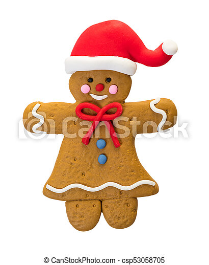 Christmas gingerbread man - csp53058705