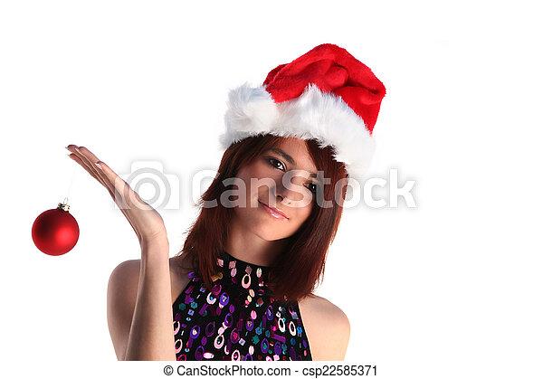 Christmas girl - csp22585371