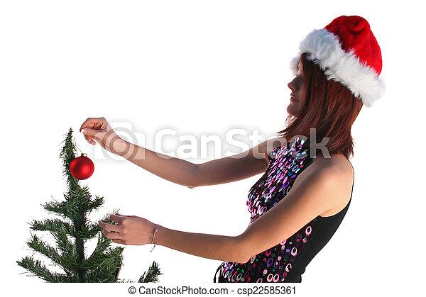 Christmas girl - csp22585361