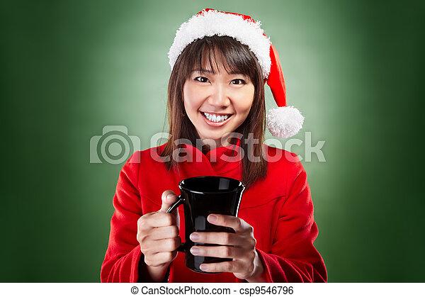 Christmas girl - csp9546796