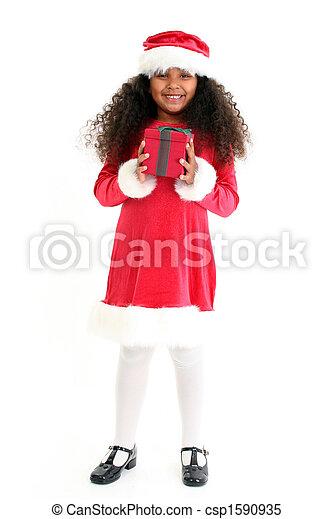 Christmas Girl - csp1590935
