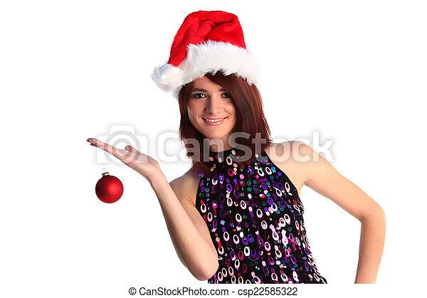 Christmas girl - csp22585322