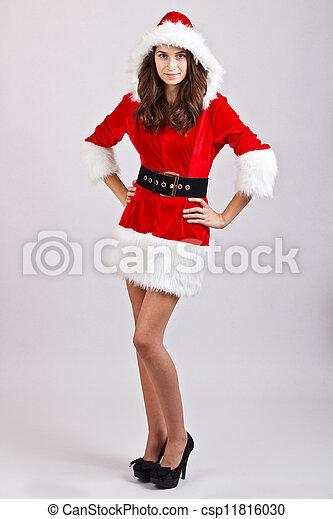Christmas girl - csp11816030