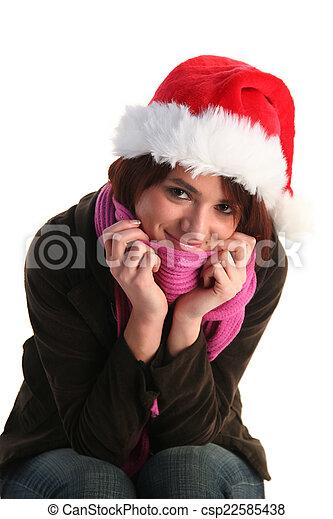 Christmas girl - csp22585438