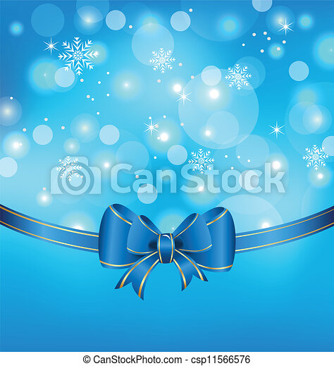 Christmas glowing packing with bow - csp11566576