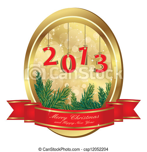 christmas gold frame - csp12052204