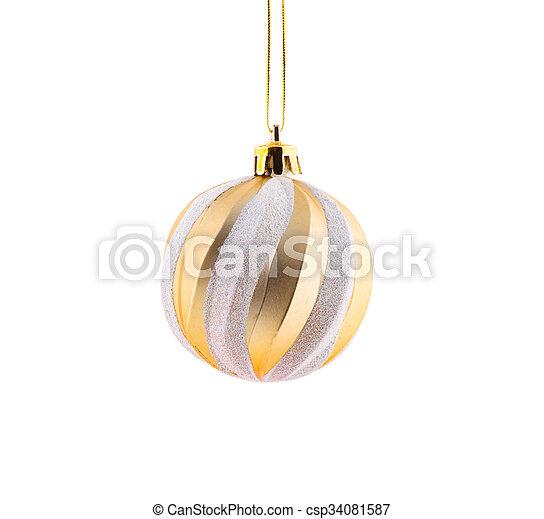 Christmas golden ball. - csp34081587