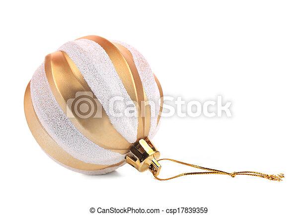 Christmas golden ball. - csp17839359