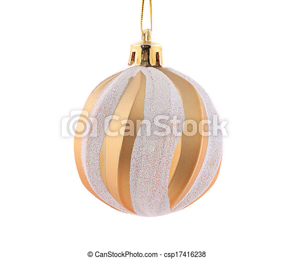 Christmas golden ball. - csp17416238