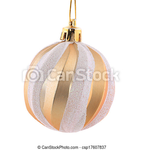 Christmas golden ball. - csp17607837