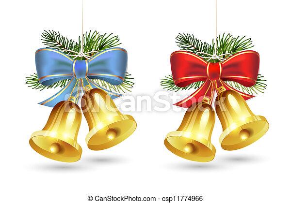 Christmas golden bells - csp11774966