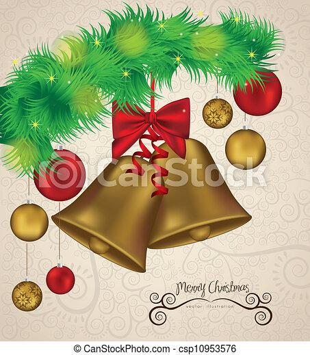 christmas golden bells - csp10953576