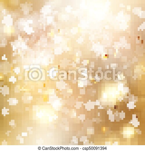 Christmas golden holiday glowing backdrop. EPS 10 vector - csp50091394