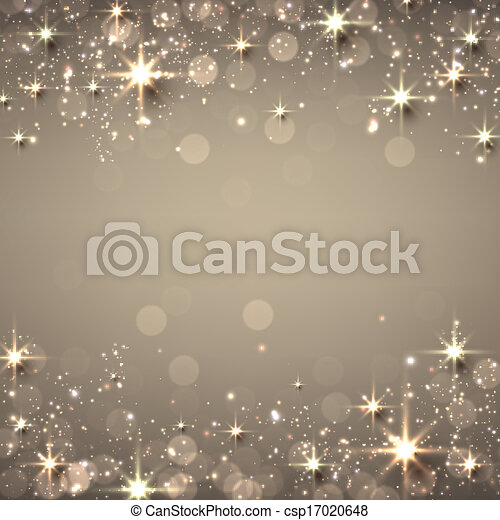 Christmas golden starry background. - csp17020648
