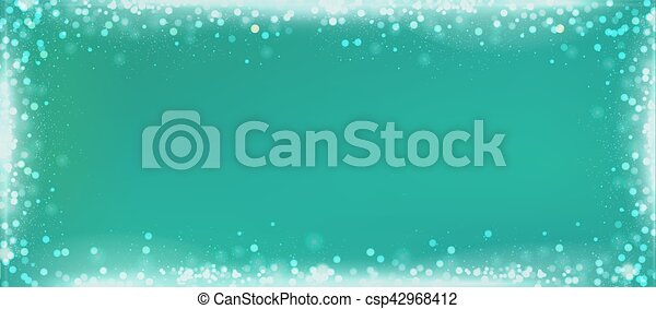 Christmas Green Background.Christmas Green Blog Banner Background With Bokeh Border