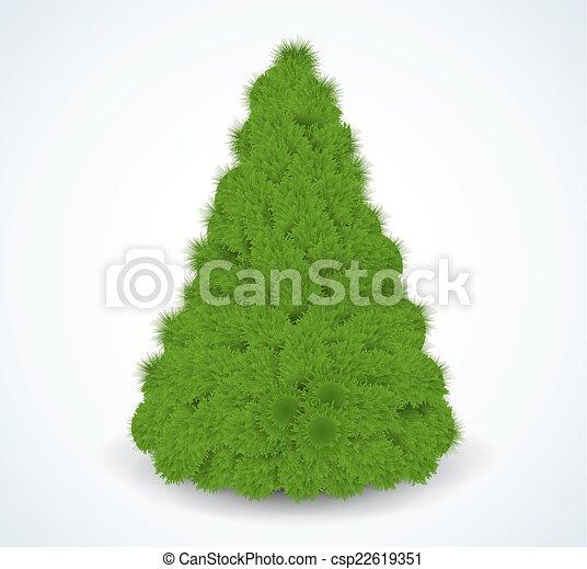 Christmas green tree. Realistic vector illustration. - csp22619351