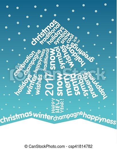 Christmas greeting card christmas tree of words christmas greeting card christmas tree of words csp41814782 m4hsunfo