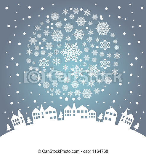 christmas greeting card - csp11164768