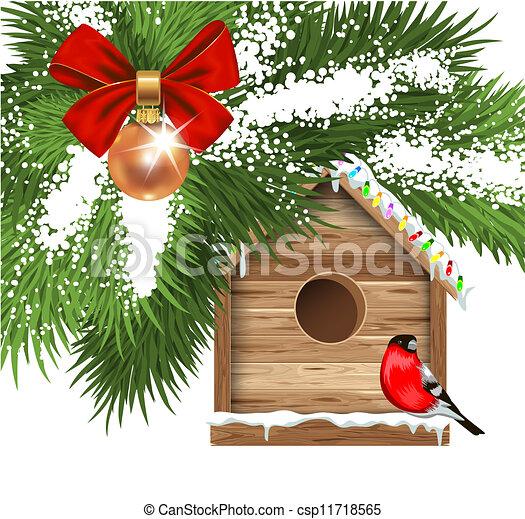 Christmas greeting card - csp11718565